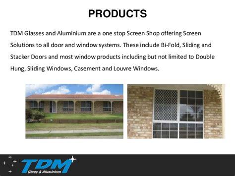 tdm glass aluminium offers reliable security screens  brisbane