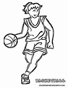 Basketball Coloring Pages For Kids Coloring Home