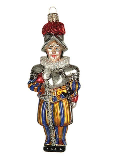 swiss vatican guard polish mouth blown glass christmas