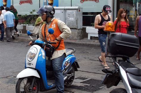 Motorcycle Taxis In Thailand