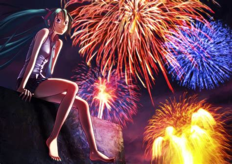 Anime New Year Wallpaper - happy new year 2014 firework anime wallpaper wallpicshd
