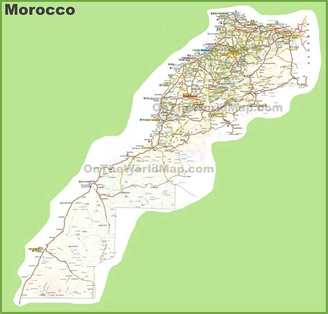 Carte Maroc Avec Villes by Large Detailed Map Of Morocco With Cities And Towns
