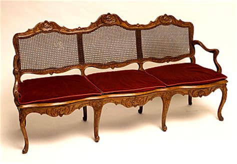 canap sal regence period caned canap for sale antiques