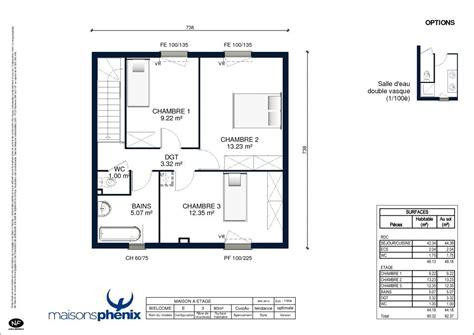 plan maison etage 2 chambres plan maison plain pied 2 chambres 60m2