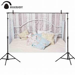 Allenjoy, Photography, Background, White, Iron, Vintage, Bedroom, Wood, Backdrop, Photocall, Photo, Shoot