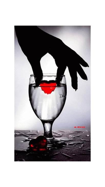 Heart Drop Gifs Hearts Hand Animated Water