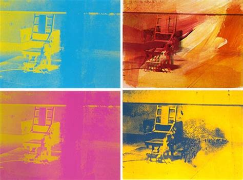 andy warhol prints electric chair