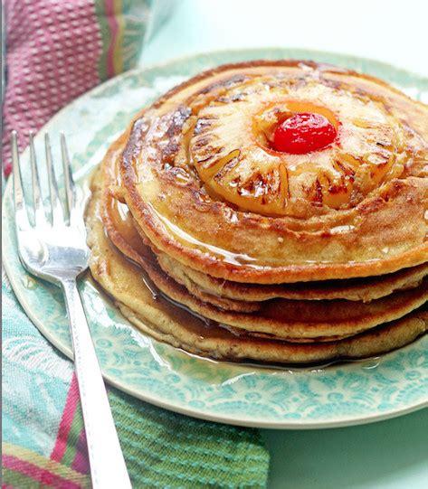 pineapple pancakes pineapple upsidedown pancakes stupid simple pancake recipes livingly