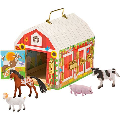 Doug Barn by And Doug Latches Barn Wooden Play Set Includes 4