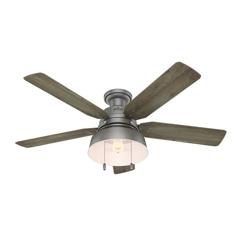 low profile ceiling fan led hunter mill valley 52 in led outdoor low profile matte