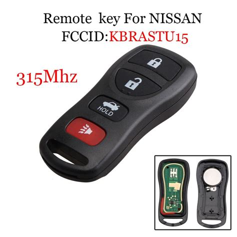 Mhz Buttons Keyless Entry Remote Control Key Fob