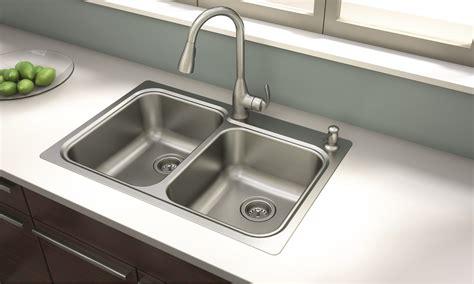kitchen sink and faucet combinations moen kelsa faucet and sink combination offers