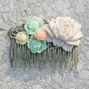 Peigne Cheveux Mariage : barrette peigne grand mod le fleurs pastels accessoire cheveux mariage coiffures mariage et ~ Preciouscoupons.com Idées de Décoration