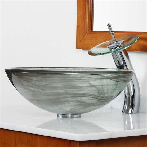 Sink Bowl Bathroom by Elite Layered Tempered Glass Bowl Vessel Bathroom