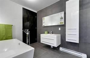 carrelage gris bien plus intriguant que vous l39imaginez With salle de bain avec carrelage gris