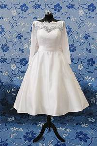 aliexpresscom buy new arrival tea length wedding dress With 3 4 length sleeve wedding dress