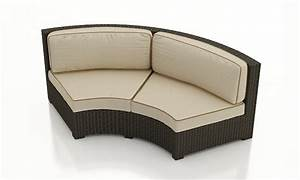 forever patio hampton wicker curved sofa replacement With outdoor sectional sofa replacement cushions