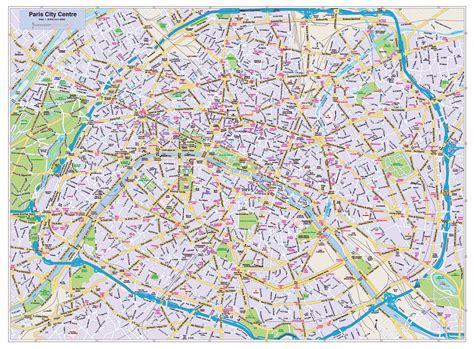 road map  central part  paris city vidianicom