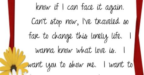 I Want To Know What Love Is Song Lyrics, Music
