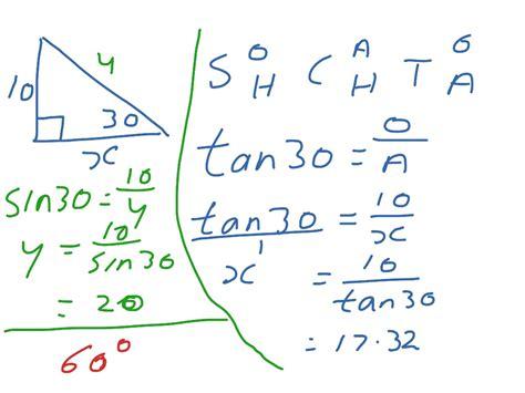 Sin Cos Tan Formulas