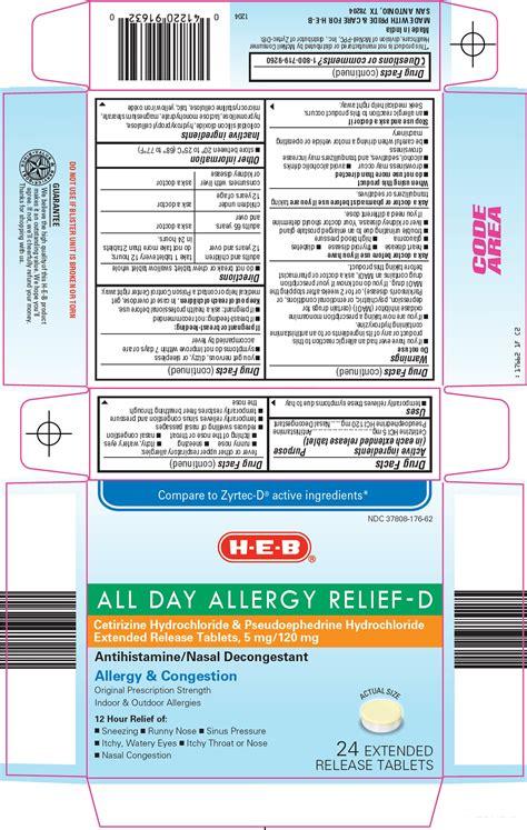 All Day Allergy Relief D H E B Cetirizine Hydrochloride