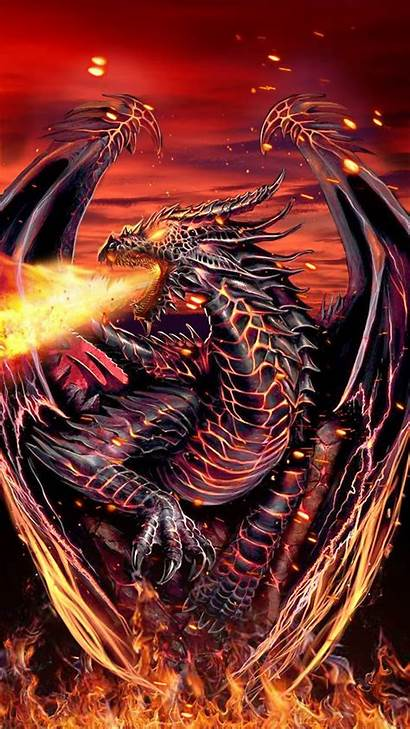 Fire Dragon Dragons Wings Breathing Breathtaking Wallpapers