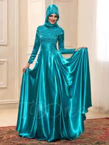 muslim bridesmaid dresses sleeve charmeuse appliques muslim wedding dress in color tbdress