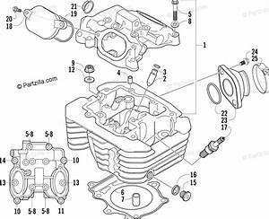 Arctic Cat Atv 2006 Oem Parts Diagram For Cylinder Head