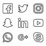 Social Icons Icon Logos Vector Clipart Network