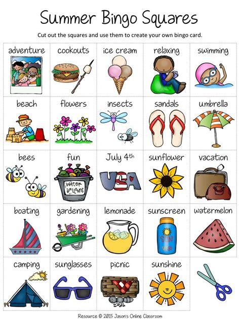 summer bingo bingo card template bingo bingo  kids