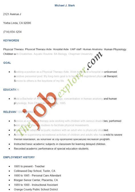 Keywords On Electronic Resume by Sle Electronic Resume Template