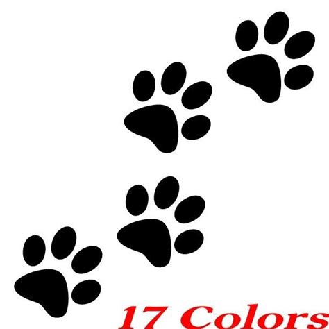 qty  catdog animal paw print feet vinyl car decal