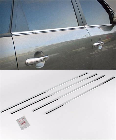 Window Sill Liner by Chrome Window Accent Line Sill Trim Molding 4p 1set For 10