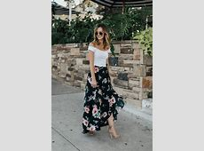 Floral Wrap Maxi Skirt LivvyLand Austin Fashion and