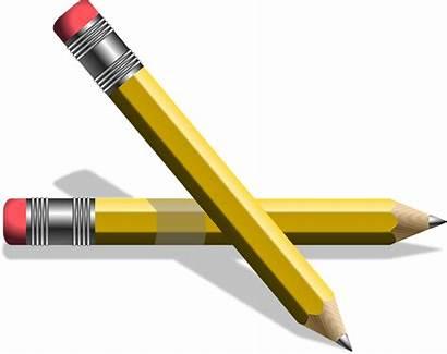 Pencil Pencils Clipart Yellow Pen Clip Rubber