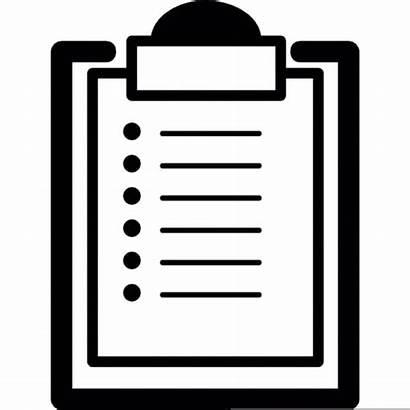 Checklist Clipboard Clipart Icon Vector Check Cliparts