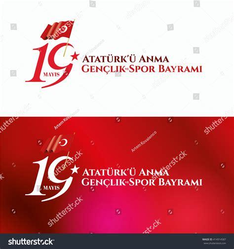 Vector Illustration 19 Mayis Ataturku Anma Stock Vector