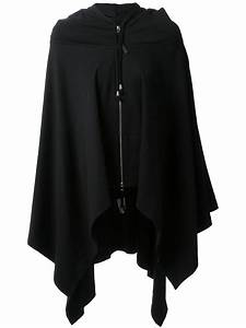 Lyst - Unconditional Poncho Hoodie in Black