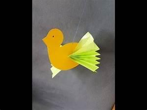 Vögel Basteln Zum Aufhängen : vogel mit faltfl geln basteln mit kindern youtube ~ A.2002-acura-tl-radio.info Haus und Dekorationen