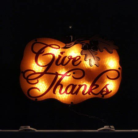 thanksgiving window decorations 16 quot lighted quot give thanks quot pumpkin thanksgiving window