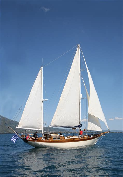 Yacht Sailing Boat by Classic John Alden Sailing Yacht Eclipse Sailing