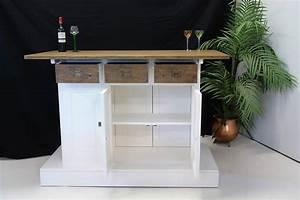 Hausbar Selber Bauen : theke bar tresen hausbar teak wei im modernen design ~ Lizthompson.info Haus und Dekorationen