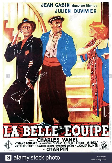 jean gabin la belle équipe la belle equipe aka they were five french poster art