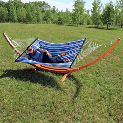 Wooden Hammock by Wooden Hammock Stand Or Hammock Stand Set Curved Arc