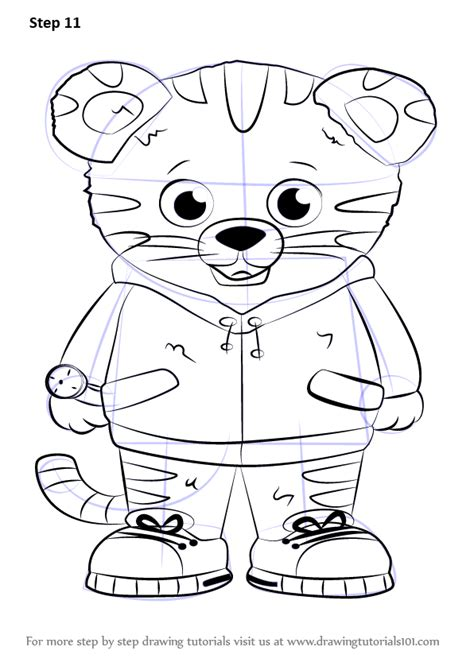 learn   draw daniel tiger  daniel tigers