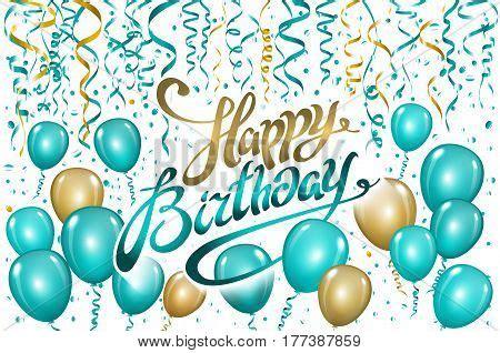 balloons happy birthday  black vector photo bigstock