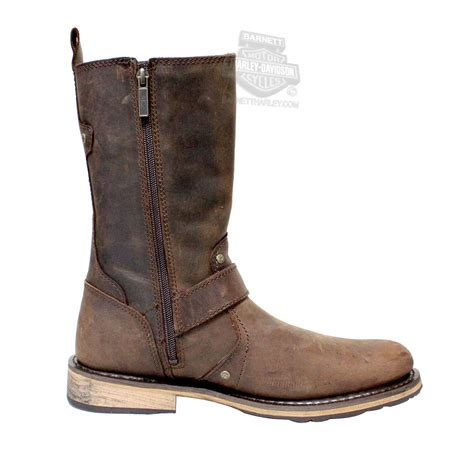 brown leather harley boots 93195 harley davidson mens brendan brown leather mid