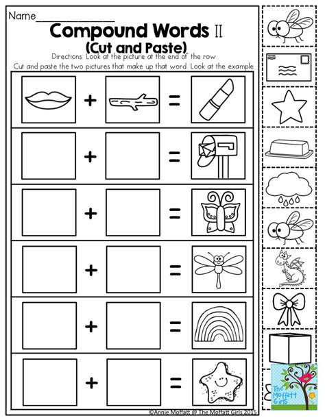compound words such a activity for kindergarten