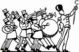 Band Coloring Marching Pages Getcolorings Printable sketch template