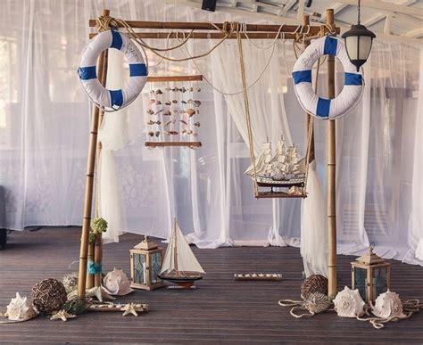 nautical decor   wedding reception decorated arch